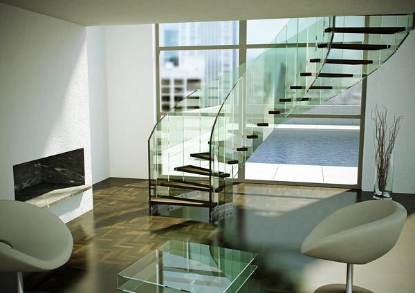 escaleras modernas para un interior sofisticado by decorobra