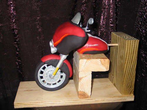 Motorcycle Cake Topper (Side) This Rice Cereal & Fondant ...