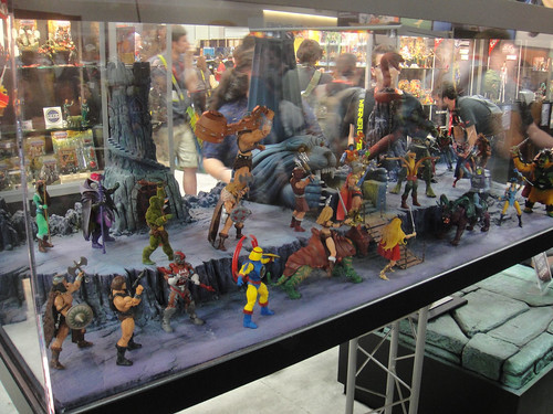 San Diego Comic-Con 2011 - Masters of the Universe action figure diorama (Mattel booth) | by Doug Kline
