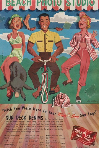 Wish You Were Here in Your White Stag Sun Togs | by The Cardboard America Archives