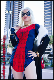 J. Scott Campbell's Black Cat in Spiderman dress at Comic-Con 2011. | by andreas_schneider