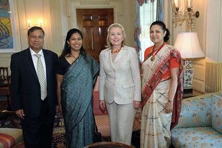 Secretary Clinton meets with Indian Ambassador Meera Shankar | by U.S. Embassy New Delhi