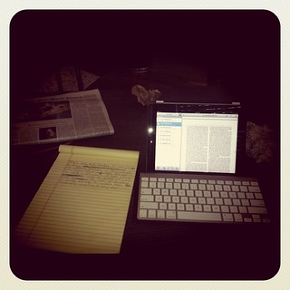 Written nearly 2000 words on an iPad and legal pad. | by reubenaingber
