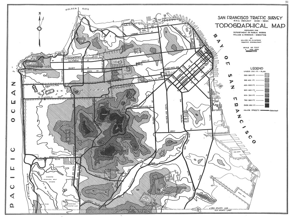 San Francisco Traffic Survey: Topographical Map (1937) | Flickr