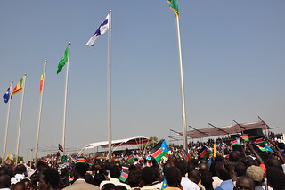 Thousands gather at the Dr. John Garang Mausoleum grounds in the capital Juba | by United Nations Development Programme