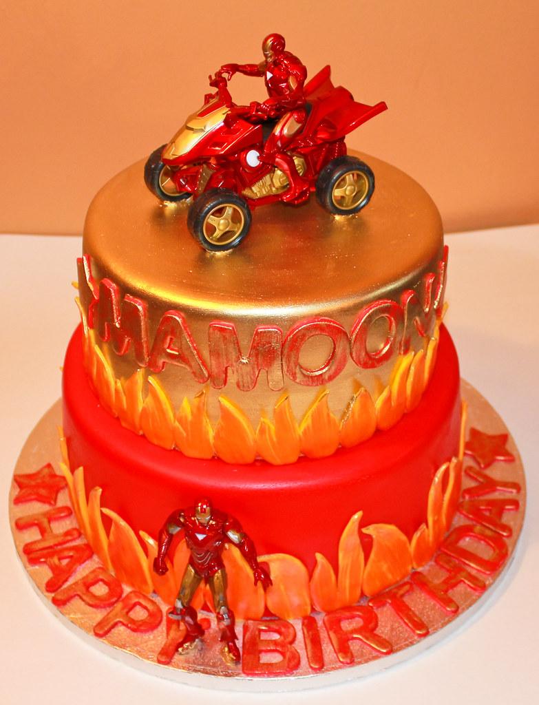 Iron Man Cake Pics