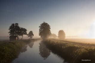 Sunrise, reflection and the morning dew | by Reina Smallenbroek