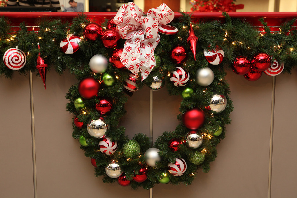 Red Lime Green And Silver Wreath Red Lime Green And