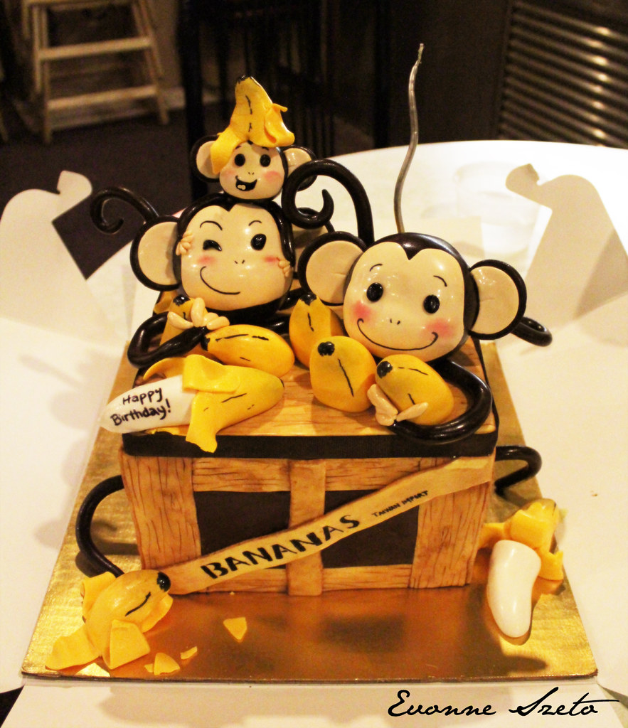 Monkey Birthday Cake Decorations