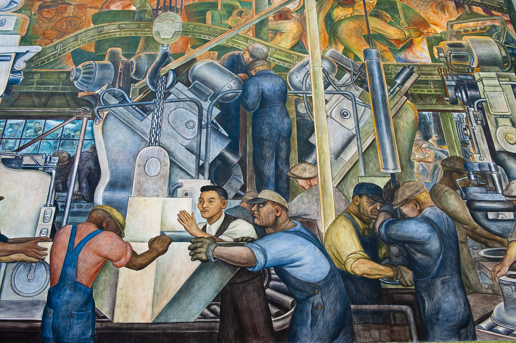 Diego rivera mural at the detroit institute of arts flickr for Diego rivera mural san francisco art institute