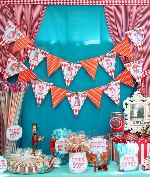 Circus Carnival Birthday Party Ideas Candy Bar Amys Party Ideas