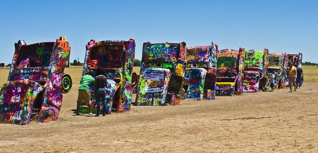 Route 66 Cadillac Ranch Amarillo Tx Cadillac Ranch Is Flickr