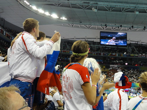 Russians cheering on their guy at Shanghai 2011 | by morshus