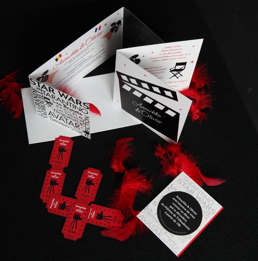 Cinema Wedding Invitation • Anouchka & Olivier | original cr… | Flickr