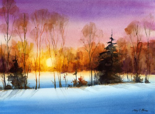 Last Light (Avoid mud) | Watercolor painting done ...