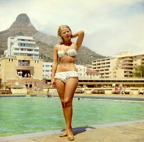 Posing at the Sea Point pool  1960. | by Etiennedup