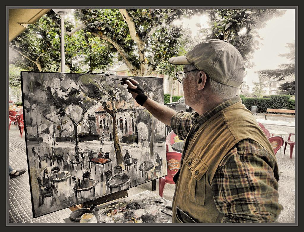 Sant guim de freixenet fotos pintores pintando paisajes pi flickr - Pintores de barcelona ...