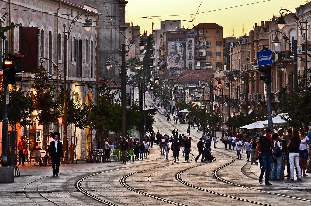 Report From Jerusalem >> Jaffa Street at Dusk   Jaffa street in Jerusalem.   Justin Kenderes   Flickr