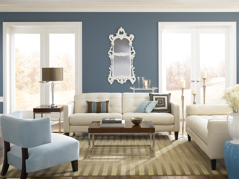 Modern Glamour Living Walls Smokey Blue 540f 5 Trim