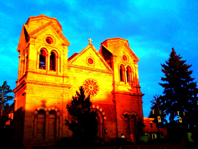 francis cathedral   iphone shot santa fe nm from the b flickr