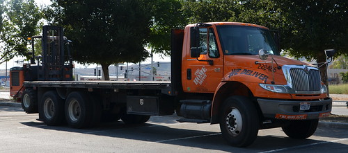 The Home Depot International Flatbed Truck With Forklift