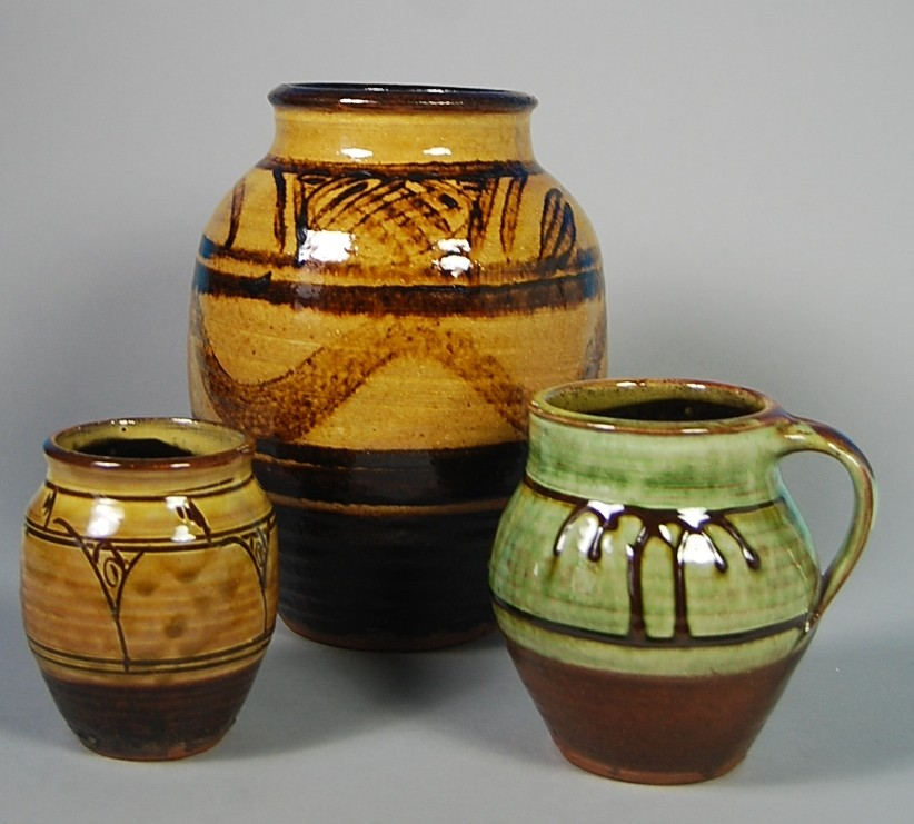 Michael Cardew Winchcombe Pottery Earthenware Vases And Ju Flickr