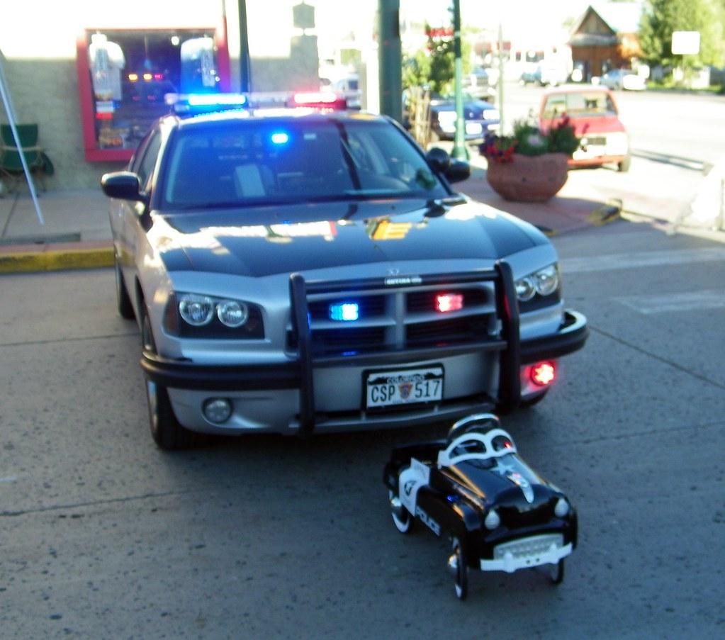 2010 Dodge Charger Colorado Highway Patrol Car & Pedal Car