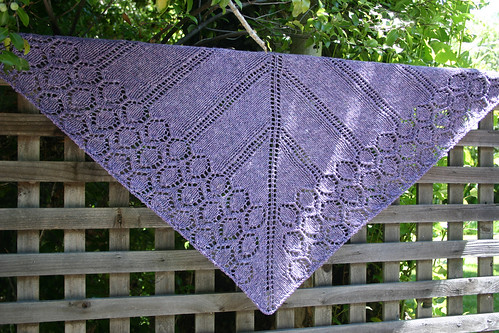 garden arbor shawl on lattice | by kira_dulaney