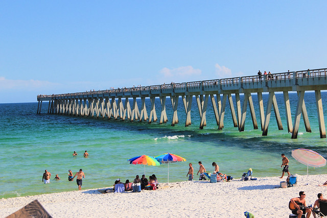 Navarre beach pier longest on the gulf flickr photo for Navarre beach fishing pier