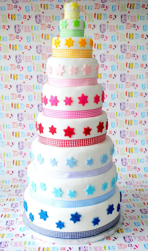 Nine tier Birthday cake Blogged at Torie Jayne Flickr