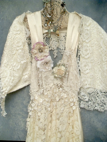 custom made boho wedding dress | by Resurrection Rags