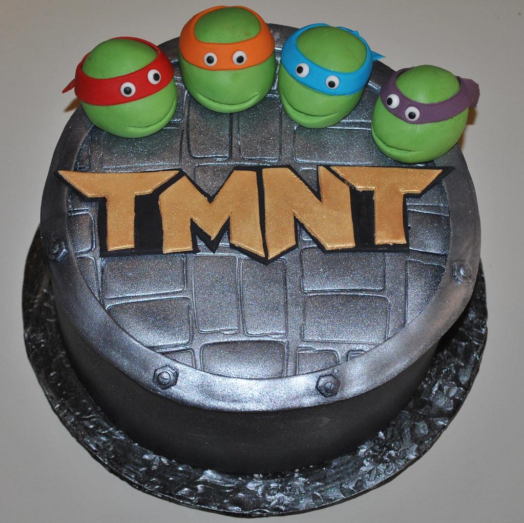 Teenage Mutant Ninja Turtles My Oldest Sons Birthday Cake Flickr