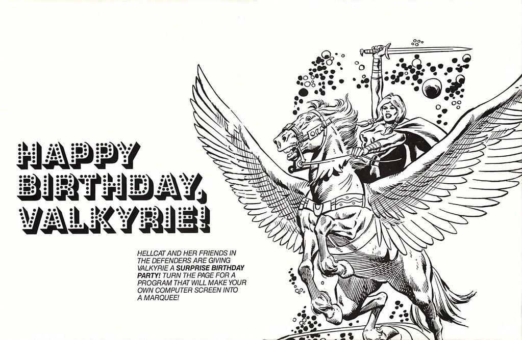 happy birthday valkyrie  1984