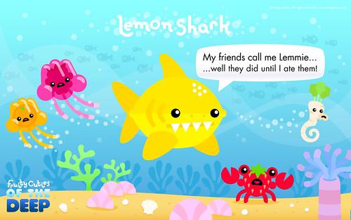 Kawaii lemon shark joke do they say lemmie or let me - Fruity cuties jokes ...
