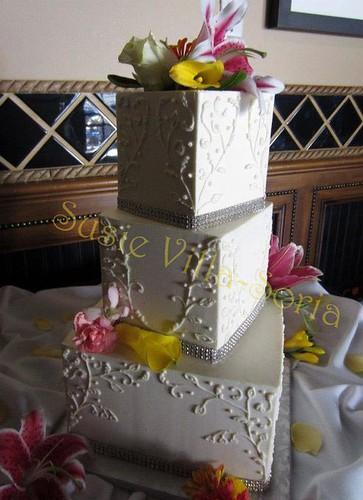 Small Three Tier Wedding Cakes