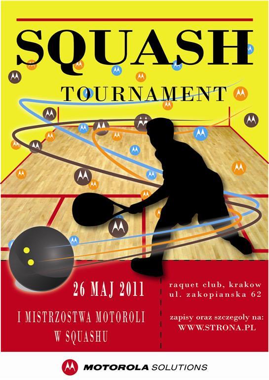 Squash Tournament Poster