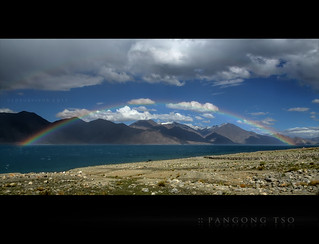 There's a Rainbow on the Lake...One of Pangong's rarest treats!! | by CoSurvivor