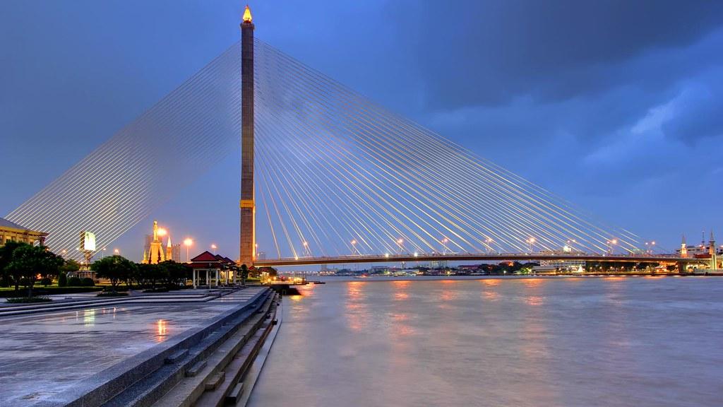 Cable Stayed Bridge >> Rama VIII Bridge | Bangkok | The Rama VIII Bridge in Bangkok… | Flickr