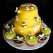 Beehive Cake & Bee cupcakes