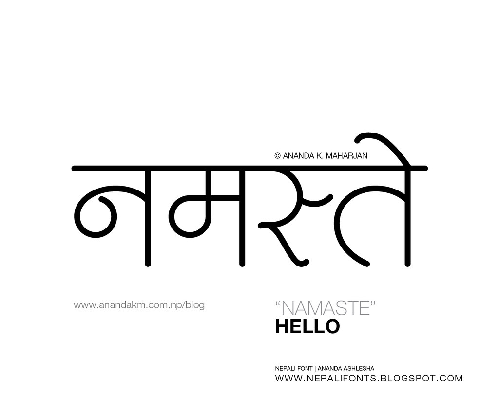 how to say hello in nepali