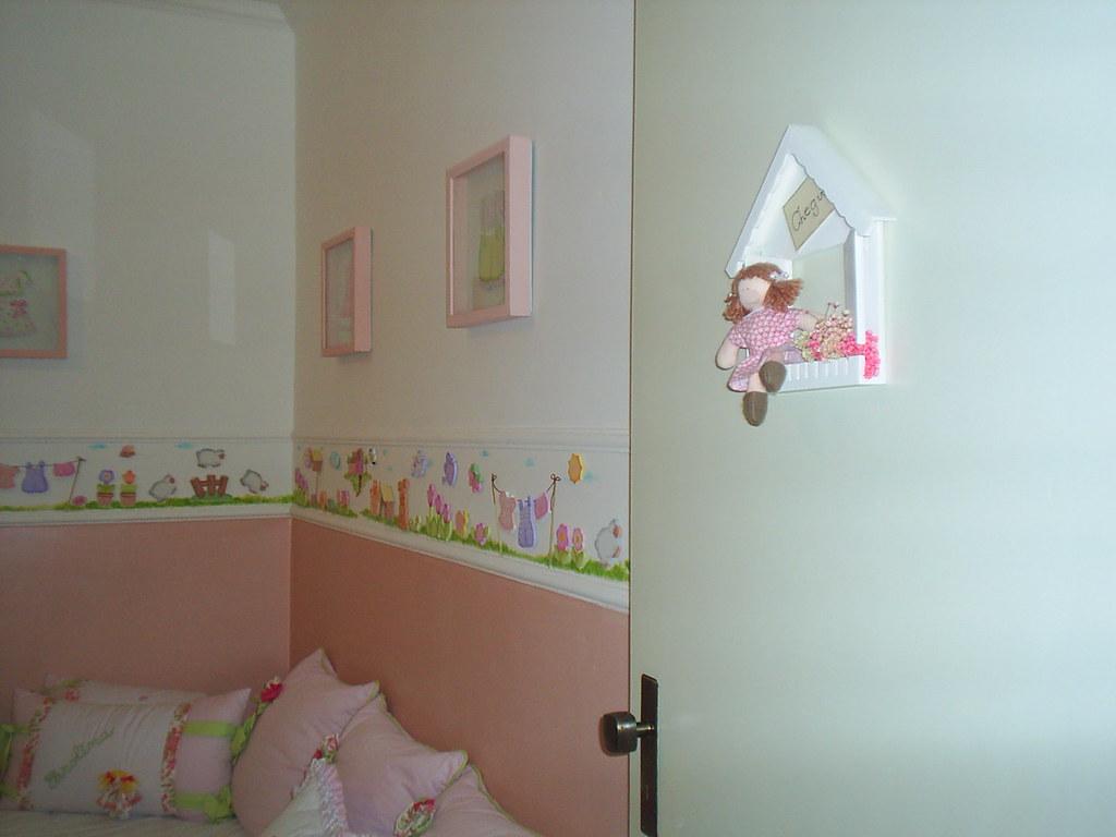 Parede com paças em madeira e pintura quarto de bebe menin…  Flickr