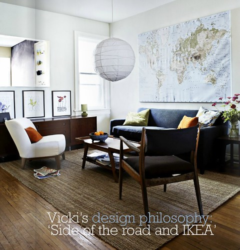 Rustic Eclectic Living Room: Covet Garden / Tracy Shumate {eclectic Mid-century Rustic