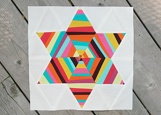 Summer Sampler Series : Six Point String Quilt Block | by Fresh Lemons : Faith