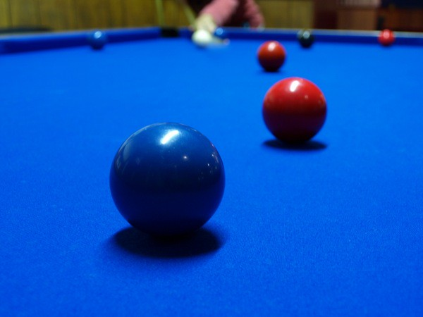 Red Pool Table Room