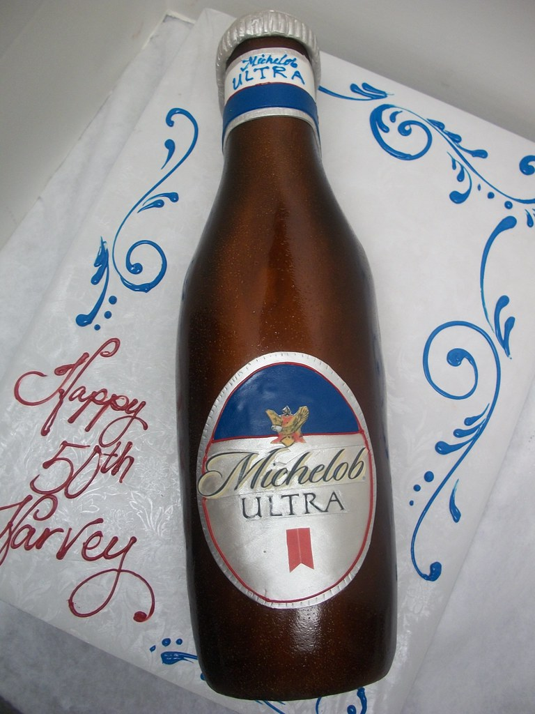 Michelob Bottle Cake