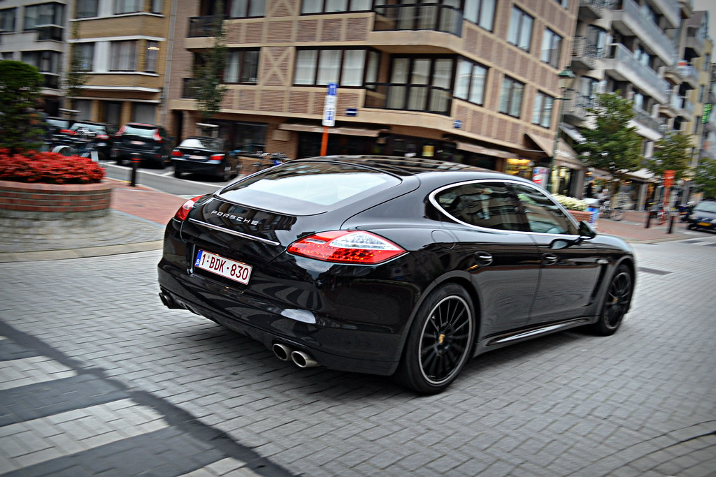 All-Black Porsche Panamera rear angle | Please like my Faceb ...