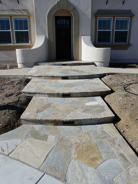 Natural stone with concrete walkway flickr photo sharing Natural stone walkways