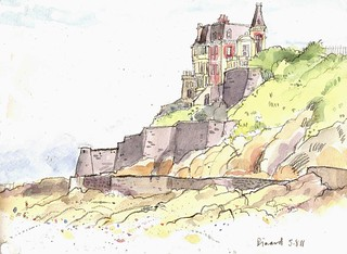 House on the Clifftop, Dinard, Brittany | by larosecarmine