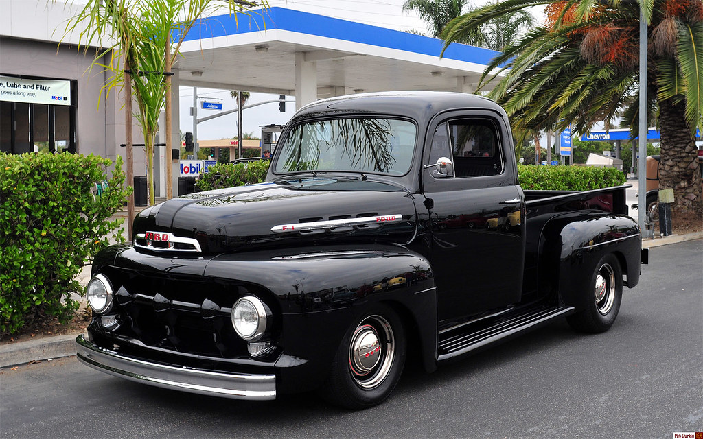 1952 Ford F 1 Pickup Black Fvl Donut Derelicts