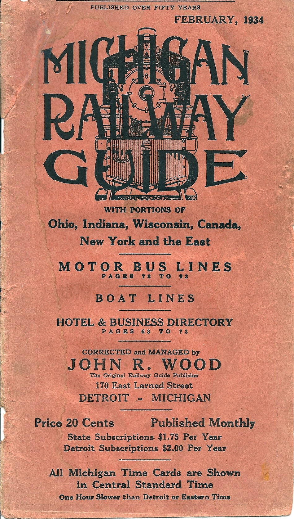 Michigan Railway Guide 1934